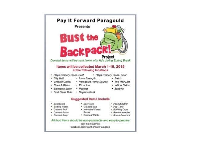 Pay it forward program