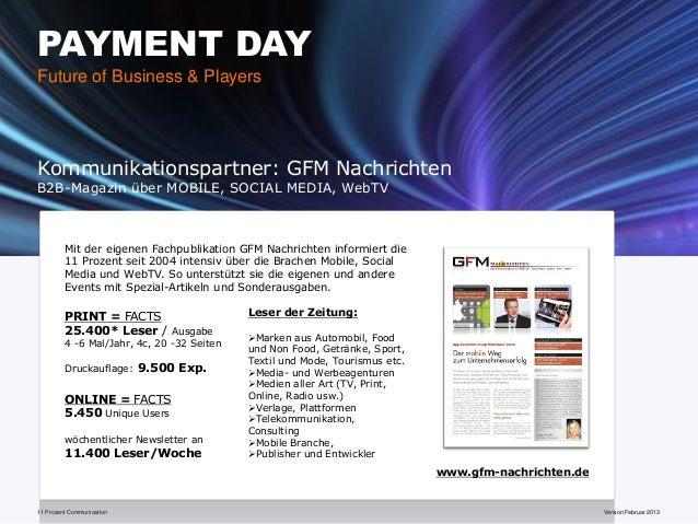 PAYMENT DAYFuture of Business & PlayersKommunikationspartner: GFM NachrichtenB2B-Magazin über MOBILE, SOCIAL MEDIA, WebTV ...