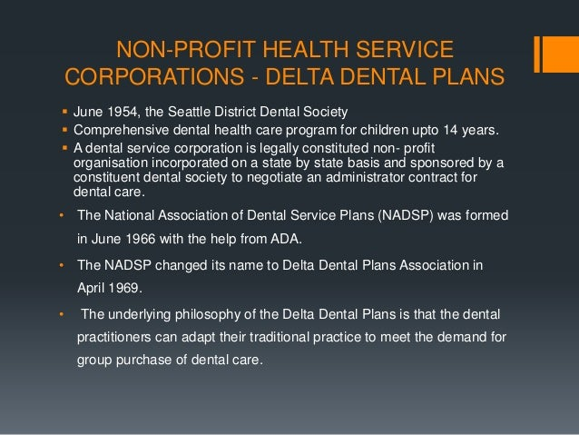 Payment for dental care