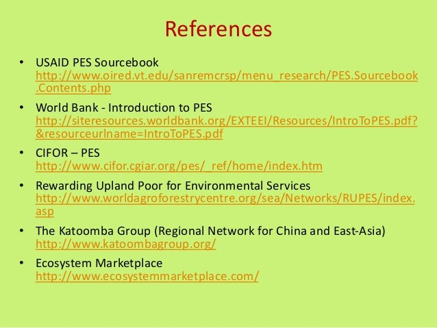 """pes payment ecosystem services Payments for ecosystem services (pes)  delivery of ecosystem services: the """"directness"""" of payment 9: there is a voluntary nature to the transaction,."""