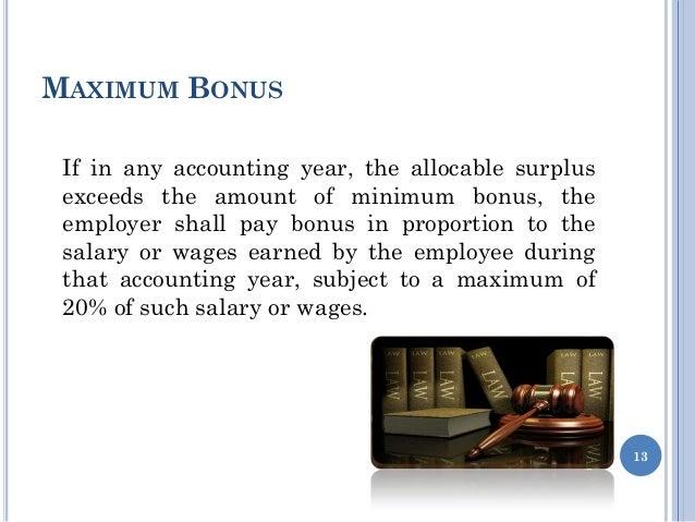 Payment of bonus act 1965 13 maximum bonus expocarfo