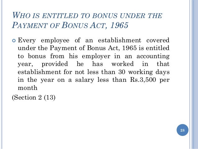 bonus act Employer shall maintain a register showing the set on and set off of the allocable surplus under section 15 of the act in the given format set on: for an accounting.