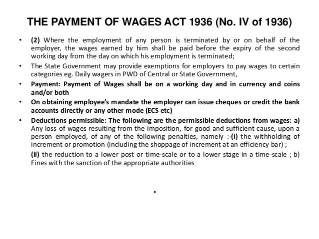 report on wages act 1936 Compliance inspection under the payment of wages act, 1936   integrated inspection report / checklist under factory act.