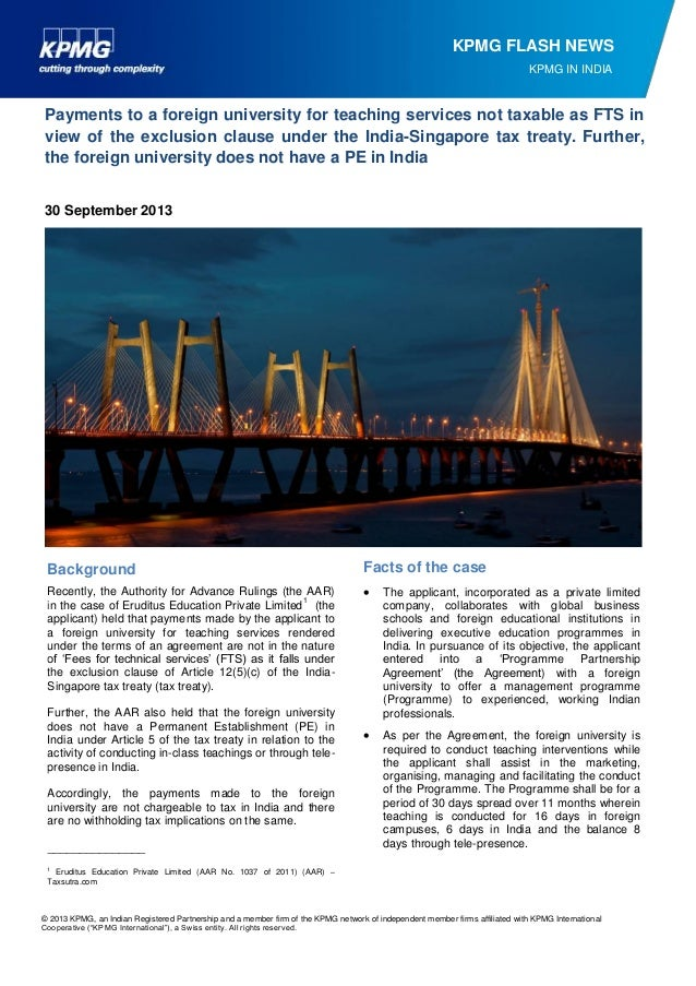 © 2013 KPMG, an Indian Registered Partnership and a member firm of the KPMG network of independent member firms affiliated...