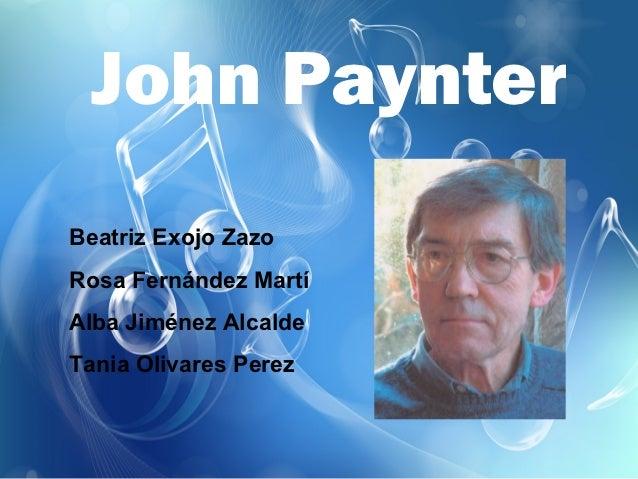 John PaynterBeatriz Exojo ZazoRosa Fernández MartíAlba Jiménez AlcaldeTania Olivares Perez