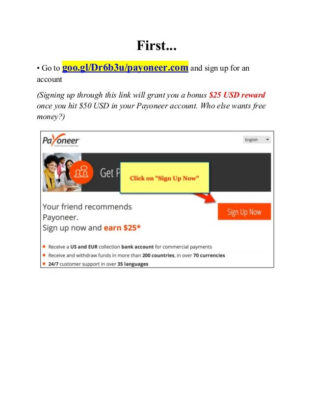 Payoneer sign up and add to amazon kindle to receive payment