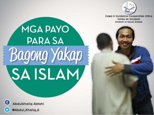 Payo para sa Bagong Yakap sa Islam