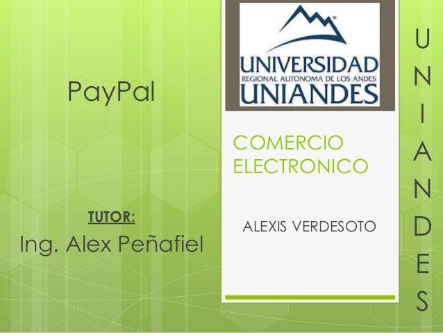 U                                        N    PayPal                                        I                     COMERCIO...