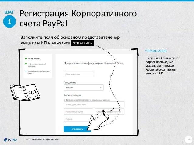 Paypal ип регистрация контрольные соотношения декларации ндфл 6