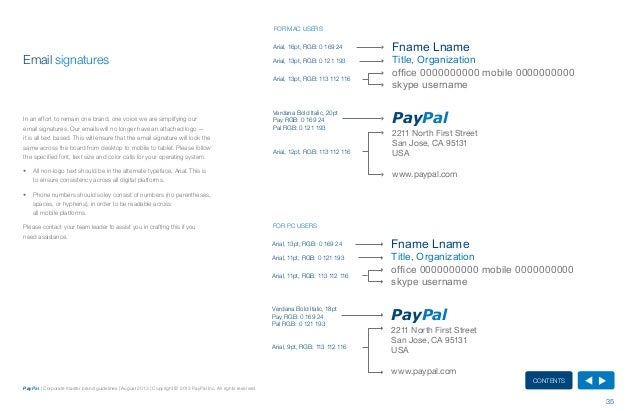 Paypal Master Brand Guidelines