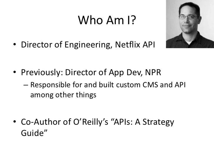 Netflix API - Presentation to PayPal Slide 3