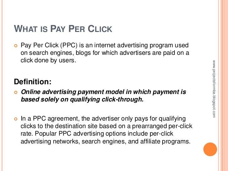 Pay per click Slide 3