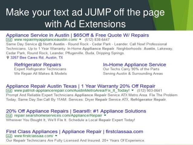 Pay Per Click Advertising For Appliance Repair Companies