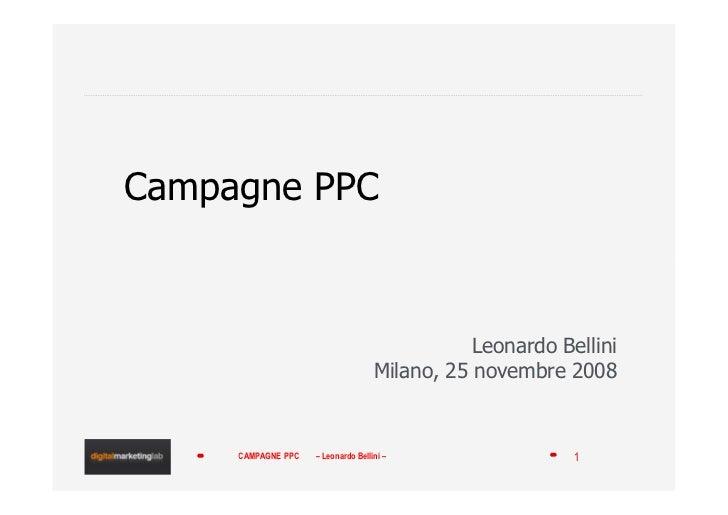 Campagne PPC                                                   Leonardo Bellini                                     Milano...