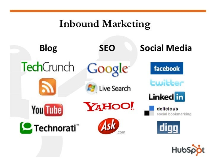 Inbound Marketing  Blog    g          SEO     Social Media