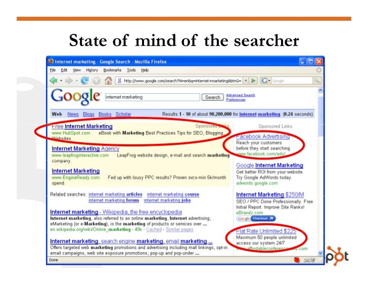 State of mind of the searcher