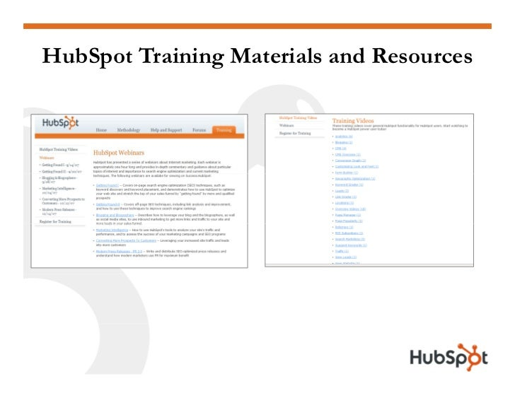 HubSpot Training Materials and Resources