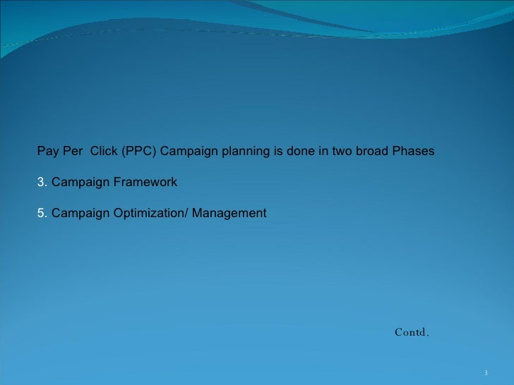 Pay Per Click or PPC Proposal Slide 3