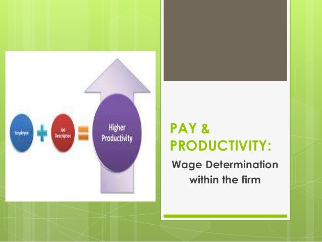 PAY & PRODUCTIVITY: Wage Determination within the firm