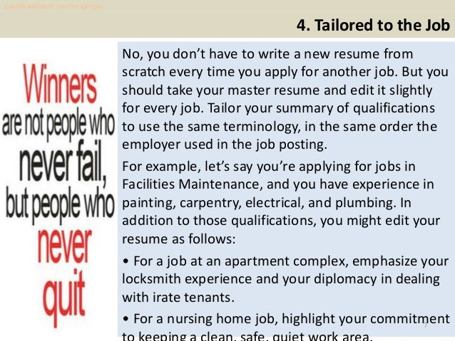 Payroll assistant resume sample pdf ebook