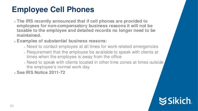 Payroll best practices webinar for Company issued cell phone policy template