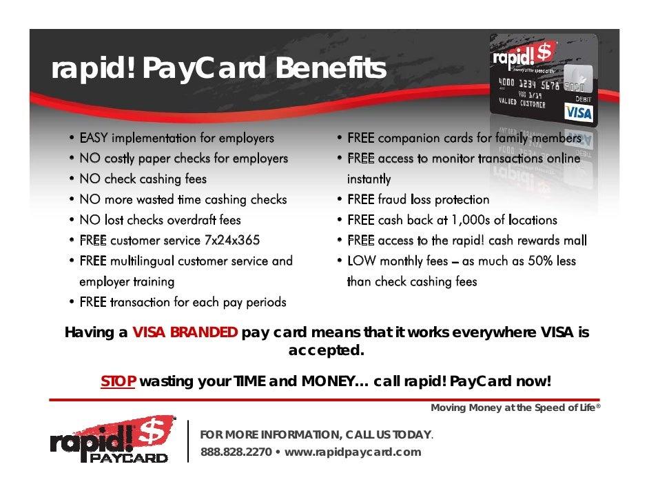 11 rapid - Visa Payroll Card