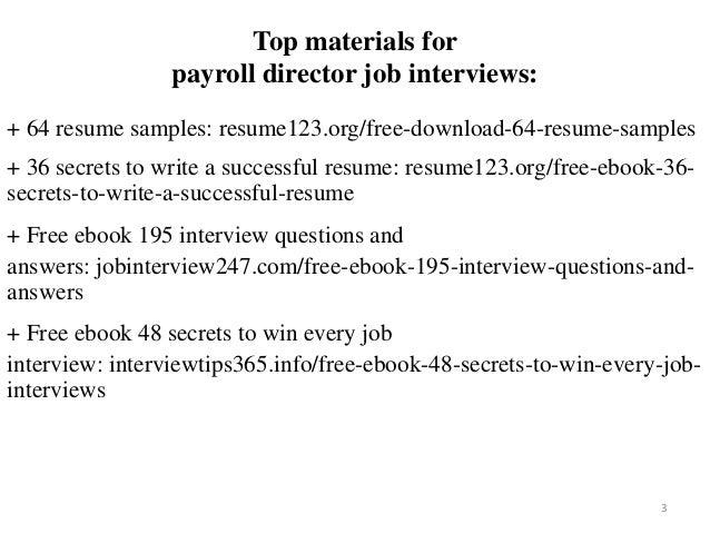 Payroll director resume sample pdf ebook free download