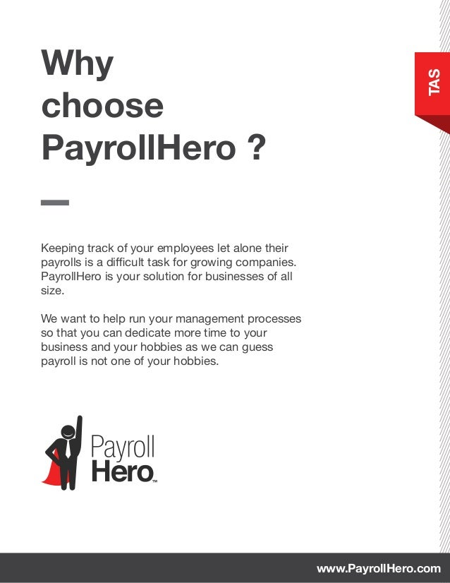 Keeping track of your employees let alone their payrolls is a difficult task for growing companies. PayrollHero is your so...