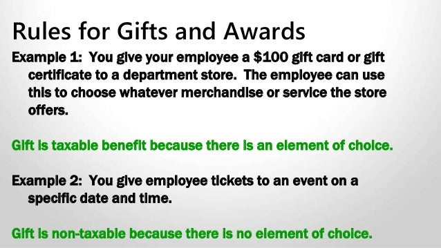 61 Example 1 You Give Your Employee A 100 Gift Card