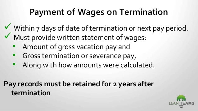 Vacation Pay After Termination Ontario | lifehacked1st.com
