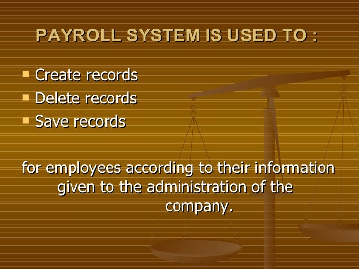 Introduction Of Payroll information Management System Essay