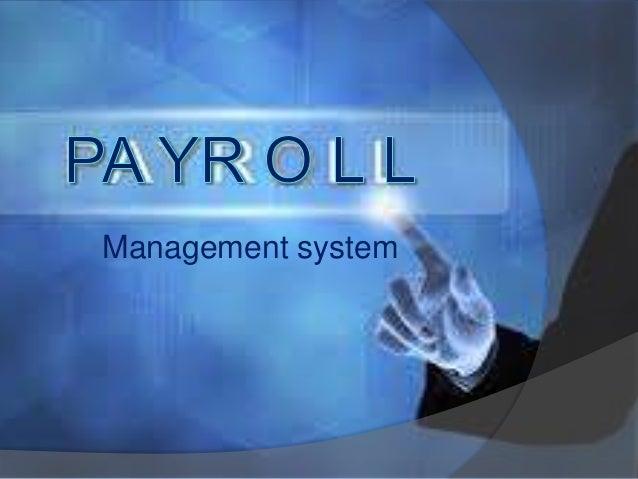 Payroll Management Presentation