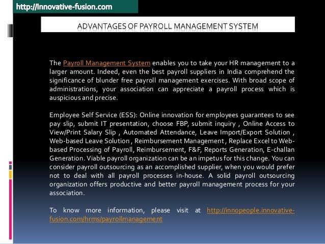 Advantages of Best Payroll Management System