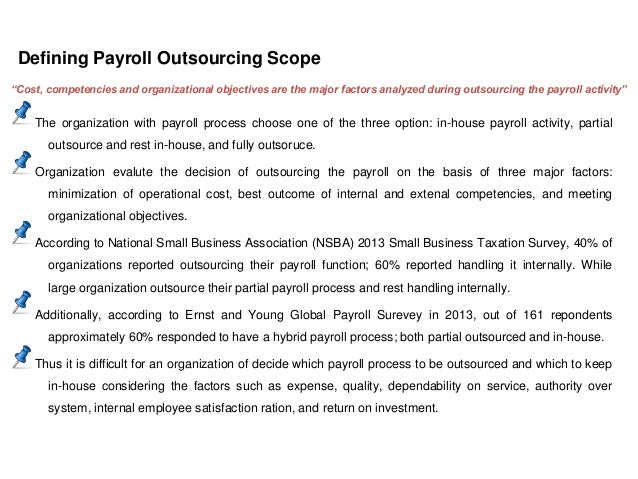 Payroll Outsourcing Payroll Outsourcing Service Level Agreement