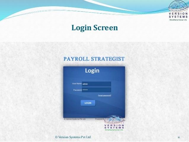 Payroll Presentation Pitching