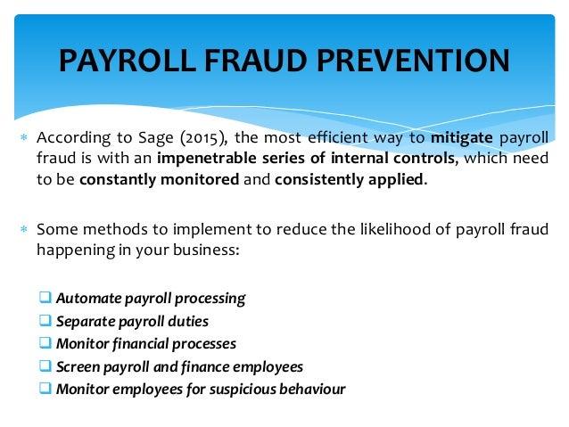 Payroll Control Risk Management Amp Fraud Prevention