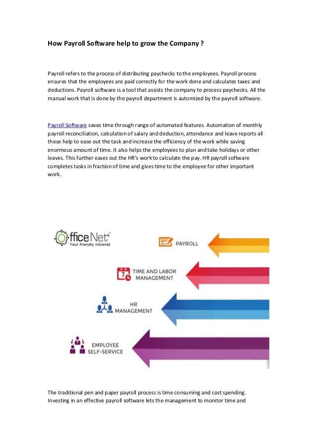 Officenet HR Payroll Software increase the Efficiency of Work