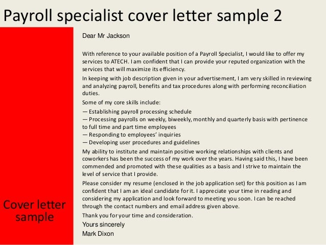 Payroll Specialist ...