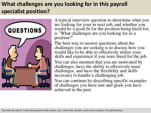 Payroll specialist interview questions – Payroll Specialist Job Description