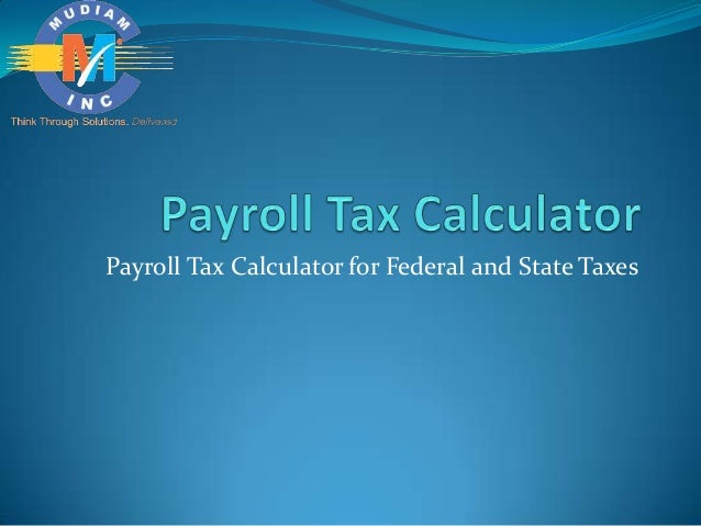 Payroll Tax Calculator