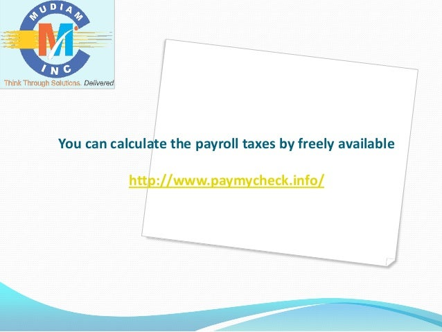 Payroll Tax Calculator – Payroll Tax Calculator