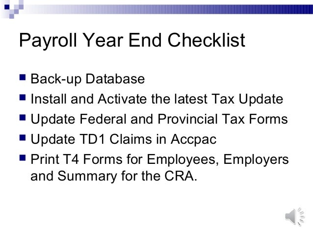 Payroll Year End