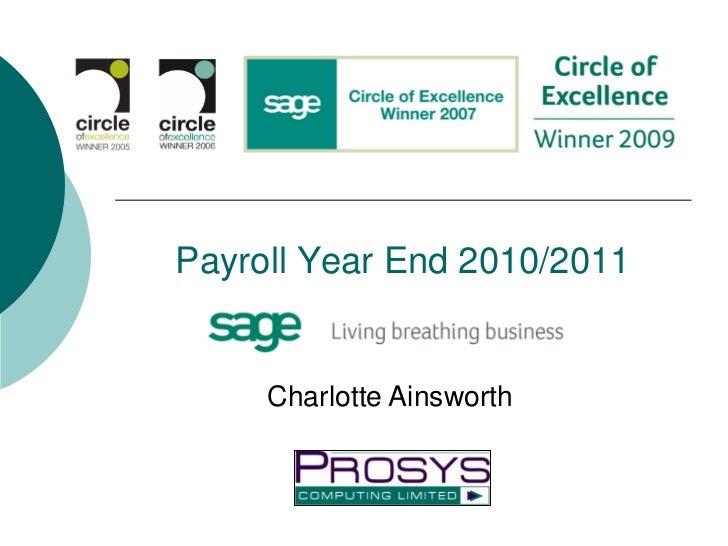 Payroll Year End 2010/2011     Charlotte Ainsworth