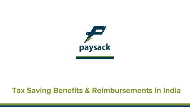 Tax saving employee benefits & reimbursements - Paysack Benefits