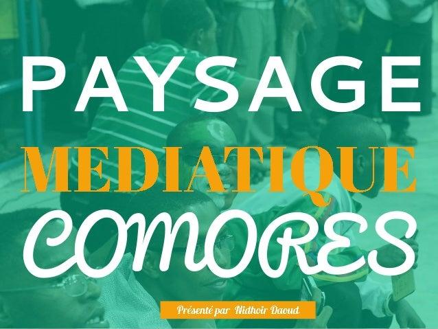 PAYSAGE COMORES