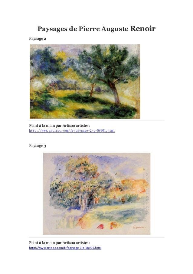 Paysages de Pierre Auguste Renoir Paysage 2  Peint à main par Artisoo artistes: la http://www.artisoo.com/fr/paysage-2-p-5...