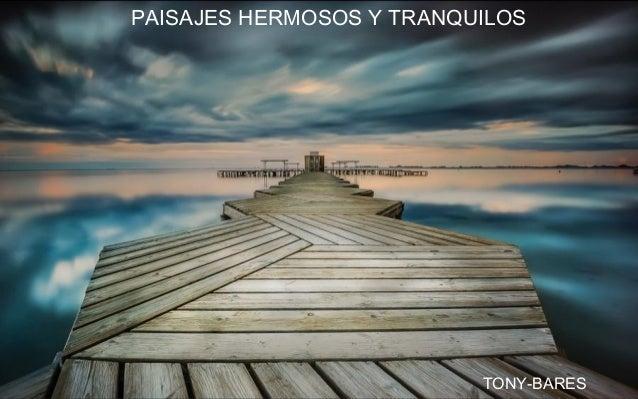 PAISAJES HERMOSOS Y TRANQUILOS TONY-BARES