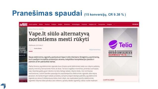 Pranešimas spaudai (15 konversijų, CR 9.38 % )