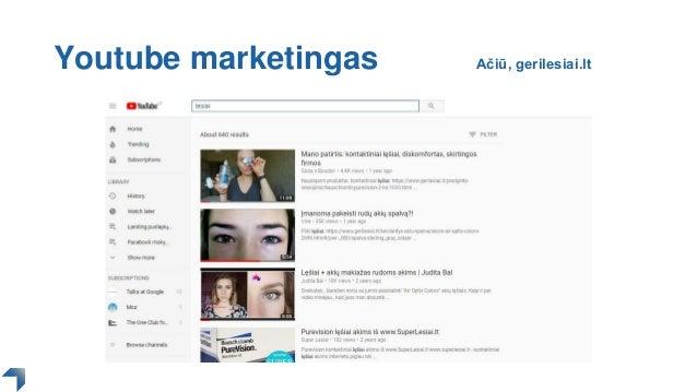 Youtube marketingas Ačiū, gerilesiai.lt