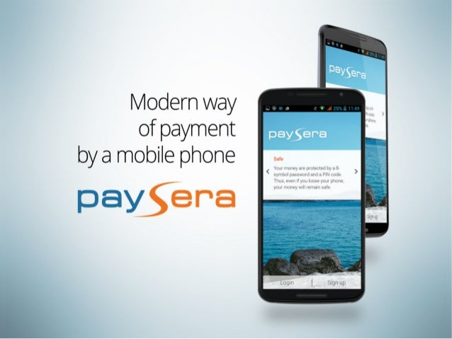 Paysera mobile application